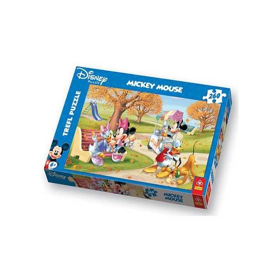 Puzzle 260 pièces - Mickey et ses amis mangent des glaces - Trefl-13083
