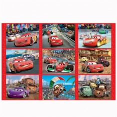 Puzzle 30 à 60 pièces : 3 puzzles Story : Cars