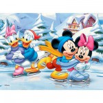 Puzzle 30 pièces - Mickey : Les joies de l'hiver