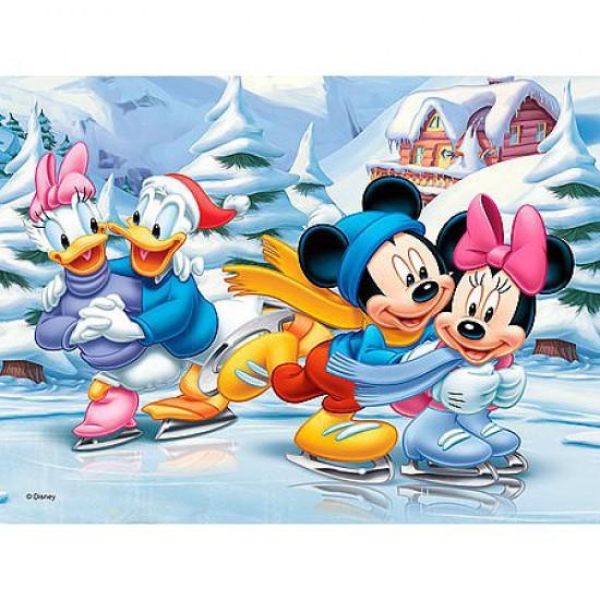 Puzzle 30 pièces - Mickey : Les joies de l'hiver - Trefl-18157