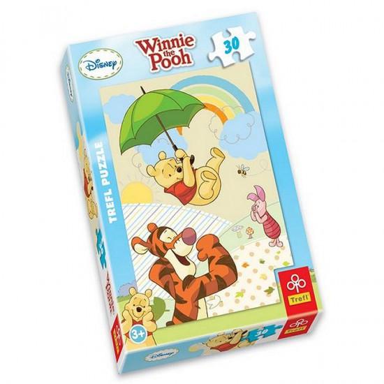 Puzzle 30 pièces - Winnie l'ourson : Dansons sous la pluie - Trefl-18154