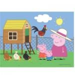Puzzle 30 pièces Peppa Pig : Visite à la ferme
