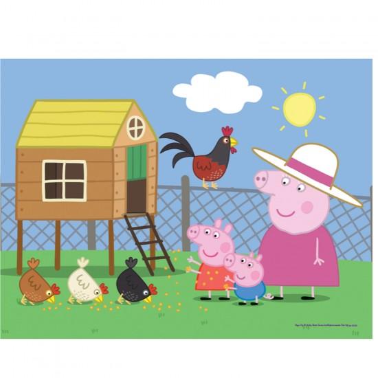 Puzzle 30 pièces Peppa Pig : Visite à la ferme - Trefl-18195