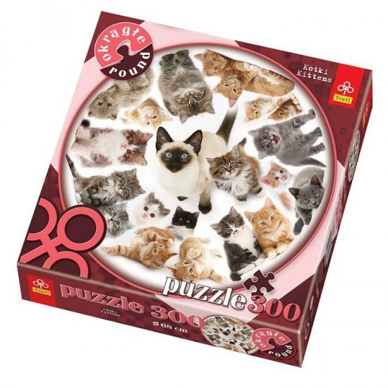 Puzzle 300 pièces rond - Les chats - Trefl-39042