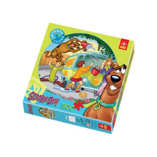 Puzzle 300 pièces rond - Scooby-Doo : Grand nettoyage - Trefl-39009