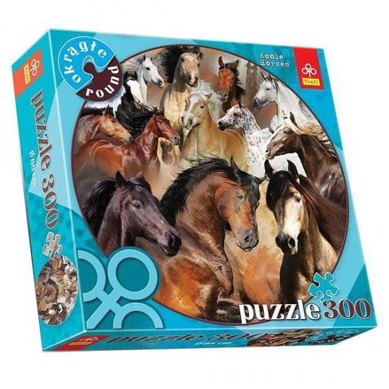 Puzzle 300 pièces rond - Chevaux - Trefl-39043
