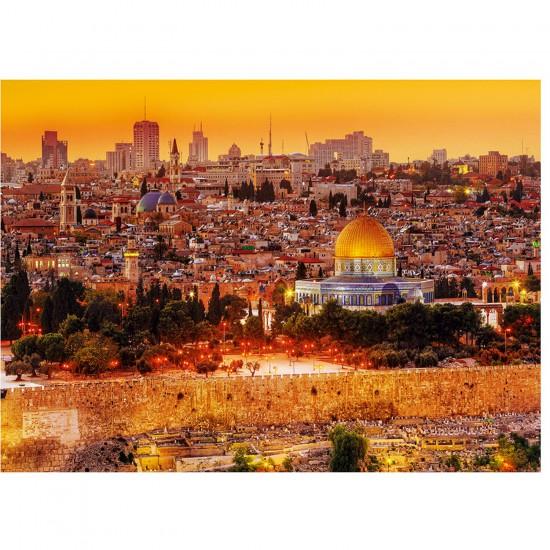 Puzzle 3000 pièces : Les toits de Jérusalem - Trefl-33032