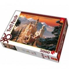 Puzzle 3000 pièces - Château de Neuschwanstein en hiver
