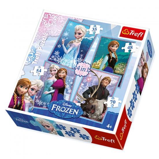 Puzzle 35 à 40 pièces : 4 puzzles : La Reine des Neiges (Frozen) - Trefl-34210