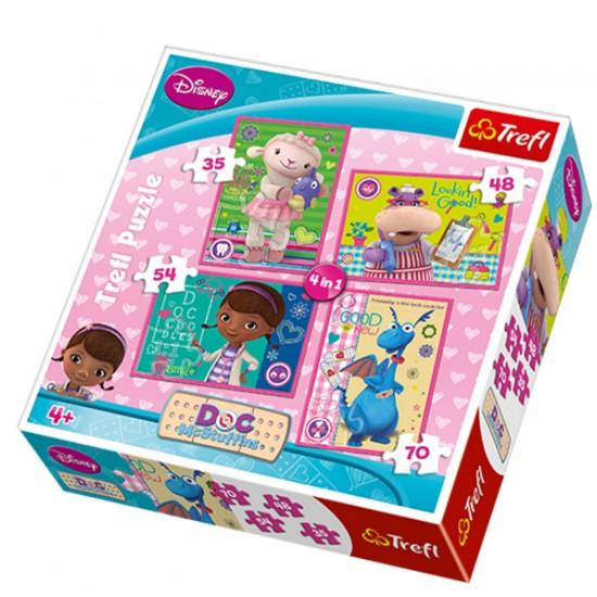 Puzzle 35 à 70 pièces : 4 puzzles : Docteur la peluche - Trefl-34234