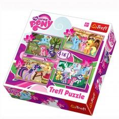 Puzzle 35 à 70 pièces : 4 puzzles : Les vacances de Mon petit poney