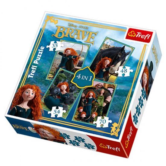 Puzzle 35 à 70 pièces - 4 puzzles : Rebelle - Trefl-34130