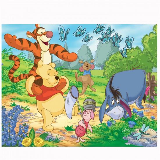 Puzzle 3D : 120 pièces : Winnie et ses amis chassent les papillons - Trefl-35648