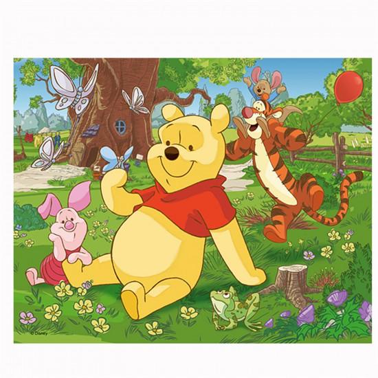 Puzzle 3D : 72 pièces : Winnie l'ourson et ses amis dans le jardin - Trefl-35568