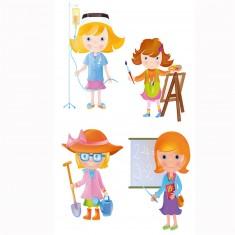 Puzzle 4 x 2 à 4 pièces : Baby puzzle : Les métiers