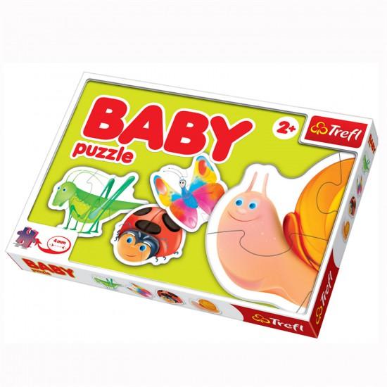 Puzzle 4 x 2 à 4 pièces : Baby puzzle : Les petites bêtes - Trefl-36016