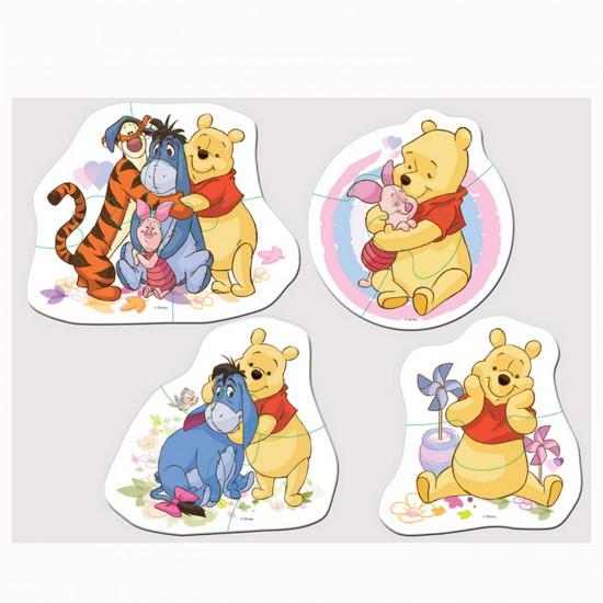 Puzzle  4 x 2 à 4 pièces : Baby puzzle : Winnie l'ourson et ses amis - Trefl-36035