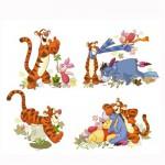 Puzzle 4 x 2 à 4 pièces : Baby puzzle : Winnie l'ourson, tigrou et leurs amis