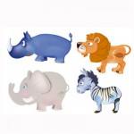 Puzzle 4 x 3 pièces : Baby puzzle : Animaux d'Afrique