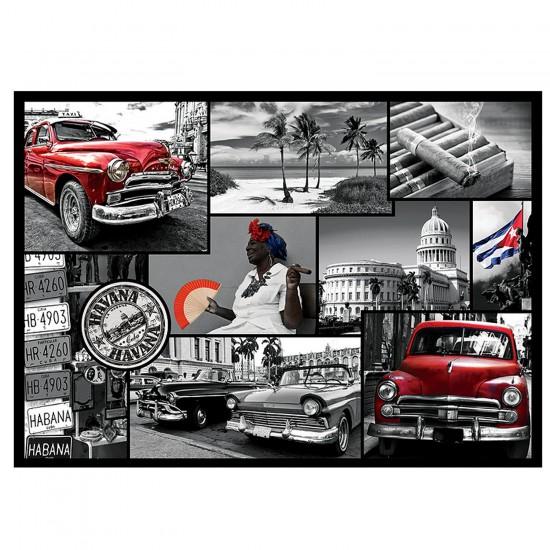 Puzzle 500 pièces : Collage La Havane - Trefl-37170