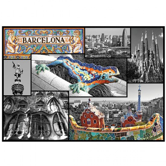 Puzzle 500 pièces - Barcelone, Espagne - Trefl-37169