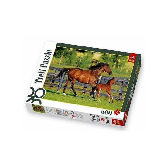 Puzzle 500 pièces - La jument et son petit - Trefl-37095