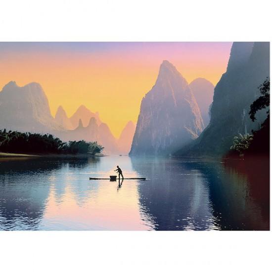 Puzzle 500 pièces - La rivière Lijiang, Chine - Trefl-37161