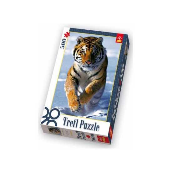 Puzzle 500 pièces - Le tigre dans la neige - Trefl-37009