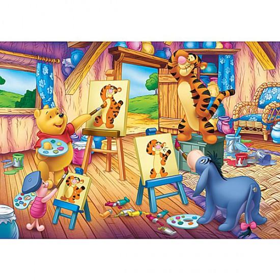 Puzzle 500 pièces - Winnie et ses amis au cours de peinture - Trefl-37158