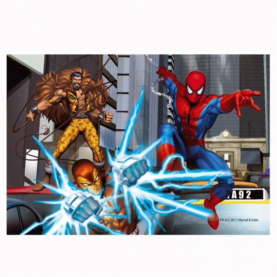 Puzzle 54 pièces Mini : Spiderman affronte ses ennemis - Trefl-54101-19373