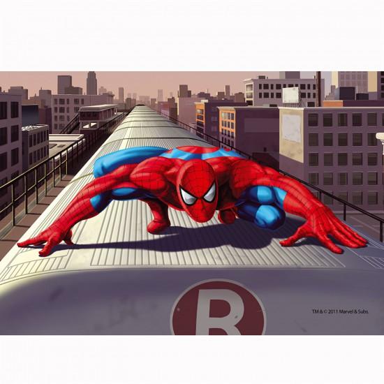 Puzzle 54 pièces Mini : Spiderman sur le toit du train - Trefl-54101-19374