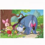 Puzzle 54 pièces Mini : Winnie l'ourson : Porcinet et Bourriquet