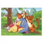 Puzzle 54 pièces Mini : Winnie l'ourson en bonne compagnie