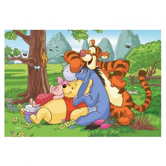 Puzzle 54 pièces Mini : Winnie l'ourson en bonne compagnie - Trefl-54106-19392-2