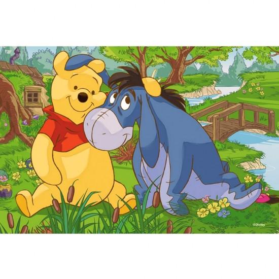 Puzzle 54 pièces Mini : Winnie l'ourson et Bourriquet près de la rivière - Trefl-54106-19393