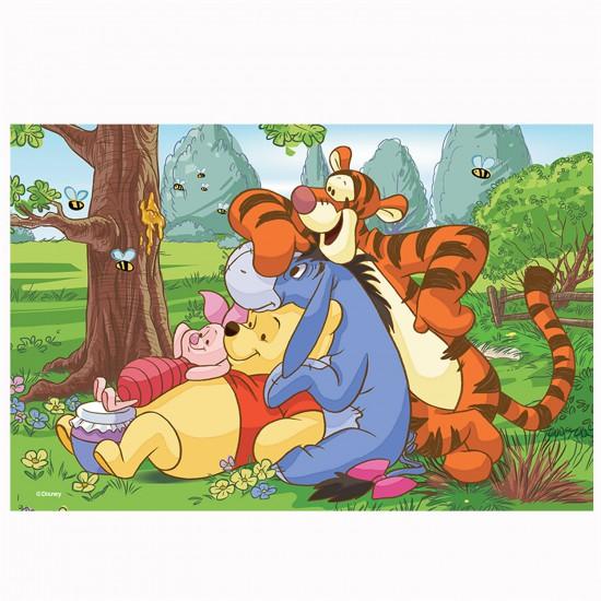 Puzzle 54 pièces Mini Disney : Winnie l'ourson et ses amis - Trefl-54106-19395