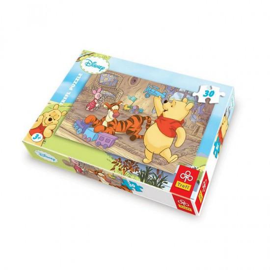 Puzzle 30 pièces - Winnie l'ourson : Jouons ensemble - Trefl-18153