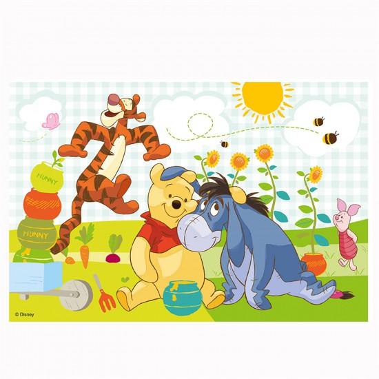 Puzzle 60 pièces : Winnie et ses amis récoltent le miel - Tref-17209