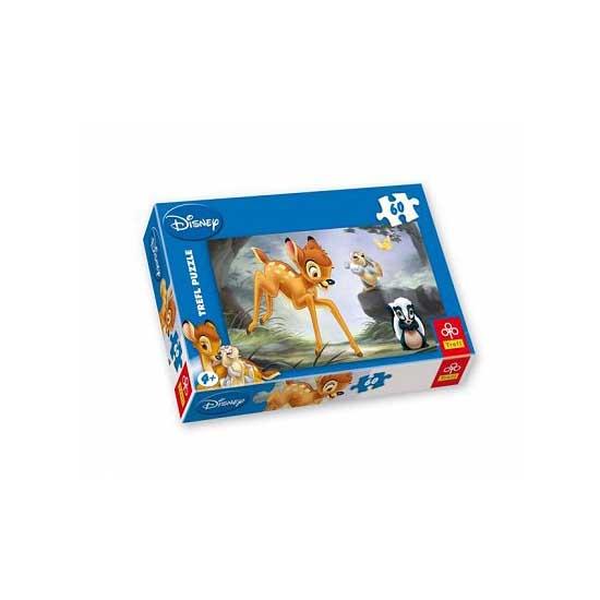 Puzzle 60 pièces - Bambi : Dispute dans la forêt - Trefl-17157