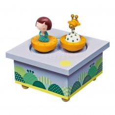 Boîte à Musique en bois : Ninon & Girafe