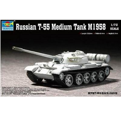 Maquette Char moyen soviétique T-55 1958 - Trumpeter-TR07282