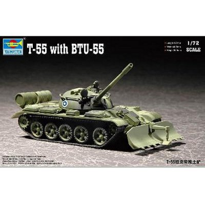 Maquette Char moyen soviétique T-55 avec système BTU-55 1960 - Trumpeter-TR07284