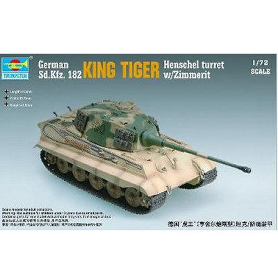 Maquette Char: King Tiger avec zimmerit 1944: Tourelle Henschel - Trumpeter-TR07291