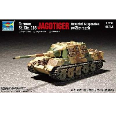 Maquette Char: Sd.Kfz 186 Jagdtiger avec zimmerit - Trumpeter-TR07293