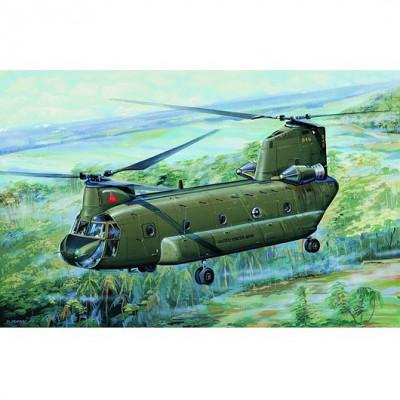 Maquette hélicoptère de transport militaire US : CH-47A Chinook - Trumpeter-TR01621