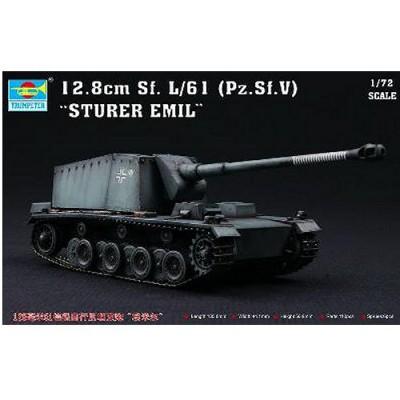 Maquette Char: Canon anti-char automoteur allemand Sturer Emil - 12.8cm Sf L/61 (Pz.Sf. v) - Trumpeter-TR07210