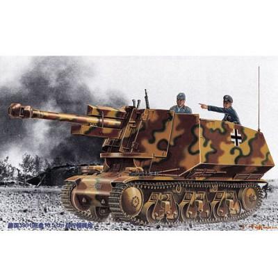 Maquette Char: Canon automoteur allemand 39(H) 105mm LeFh 18(Sf) Ausf Geschutzwagen - Trumpeter-TR00353