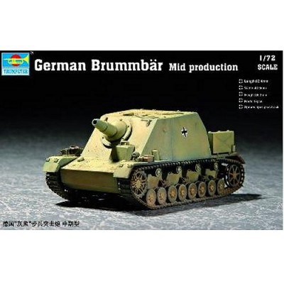 Maquette Char: Canon d'assaut allemand Brummbar: Milieu de production - Trumpeter-TR07211