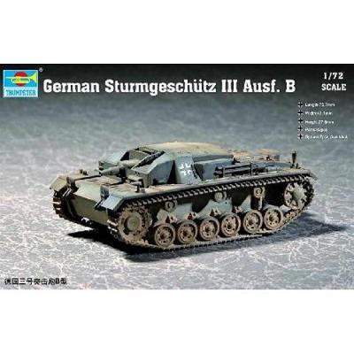 Maquette Char: Canon d'assaut allemand Sturmgeschutz III Ausf B 1940 - Trumpeter-TR07256