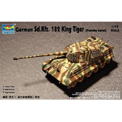 Maquette Char lourd allemand Sd Kfz 182 KING TIGER: Tourelle Porsche - Trumpeter-TR07202